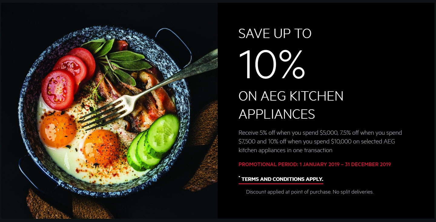 SAVE UP TO 10% ON AEG KITCHEN APPLIANCES