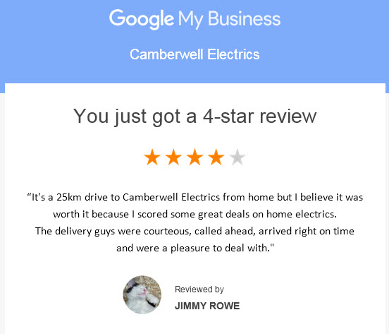 Jimmy R 4 Star Customer Review