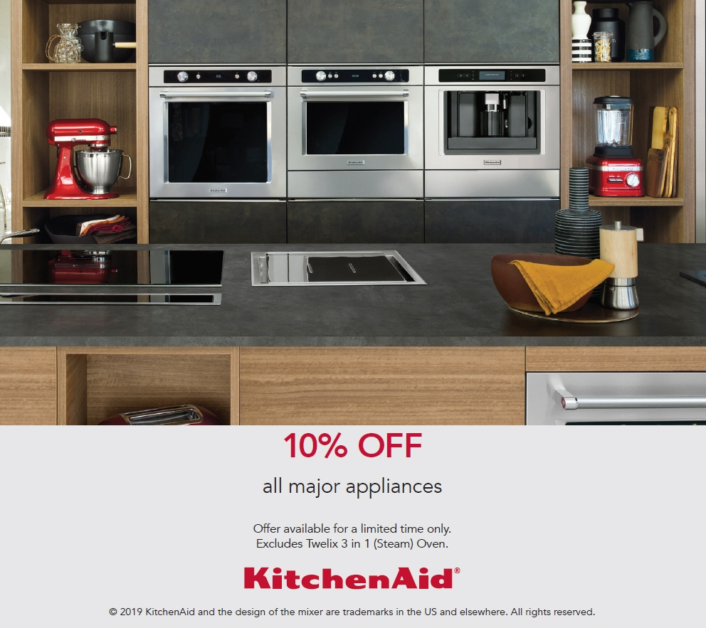 KitchenAid Promotion 10% off All Major Appliances