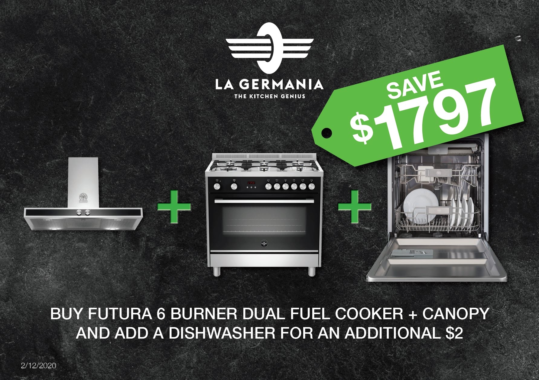 La Germania Nov 2020 Promotion Save 1797 with FREE Dishwasher