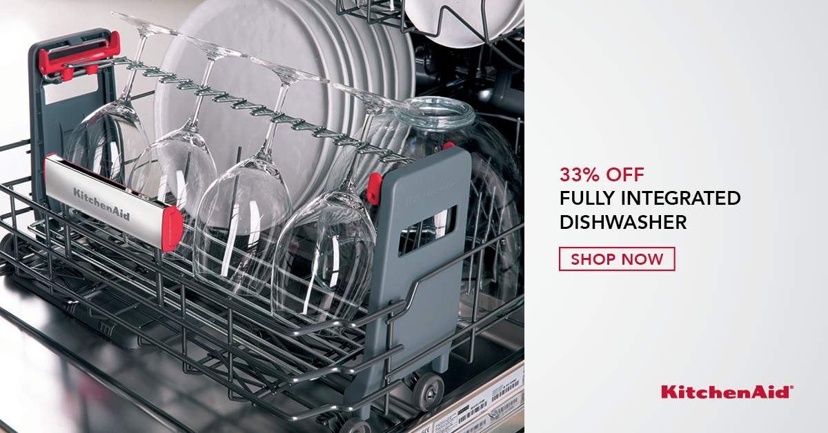 KitchenAid 33% Off Fully Integrated Dishwasher