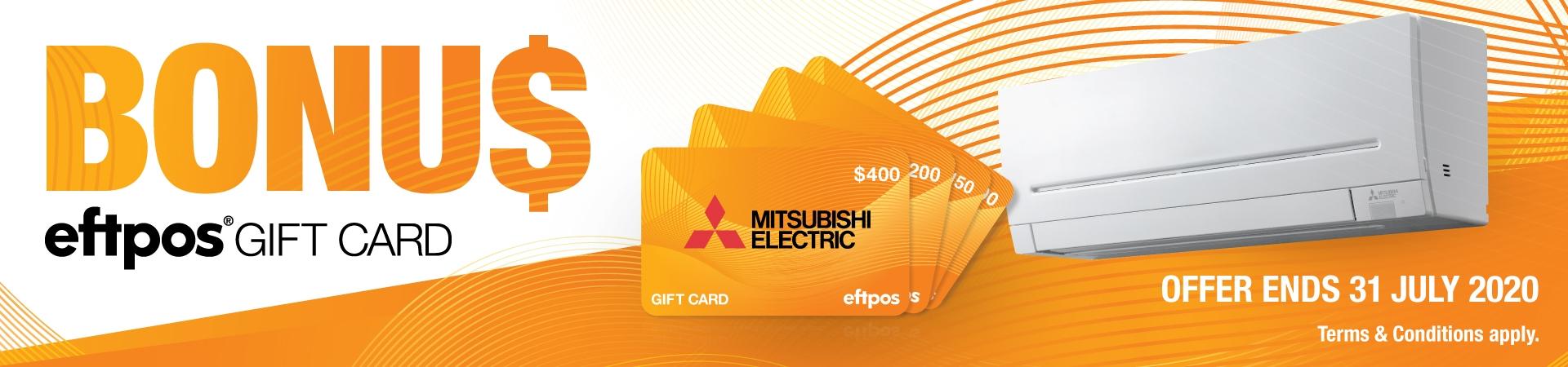 Mitsubishi  April June 2020 EFTPOS Gift Card