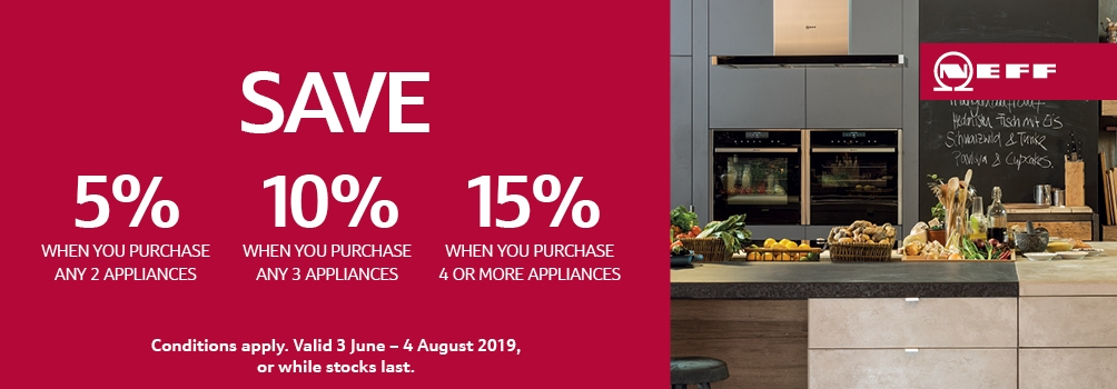 Save 15% on NEFF Appliance June 2019 Promotion
