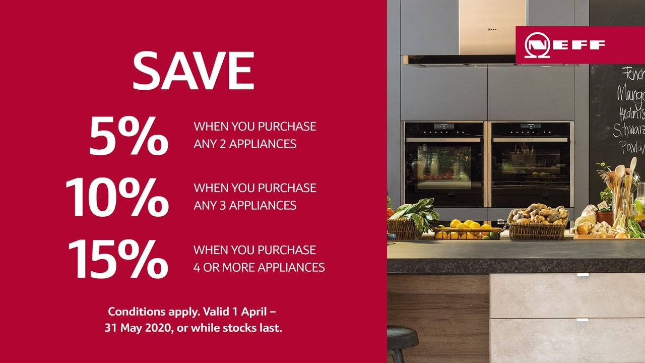 NEFF Save up to 15% April 2020 Promotion