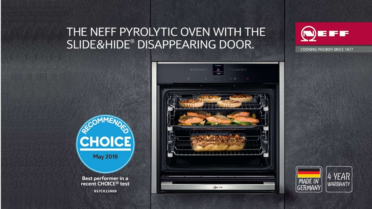 NEFF Slide & Hide Ovens Recommended by Choice