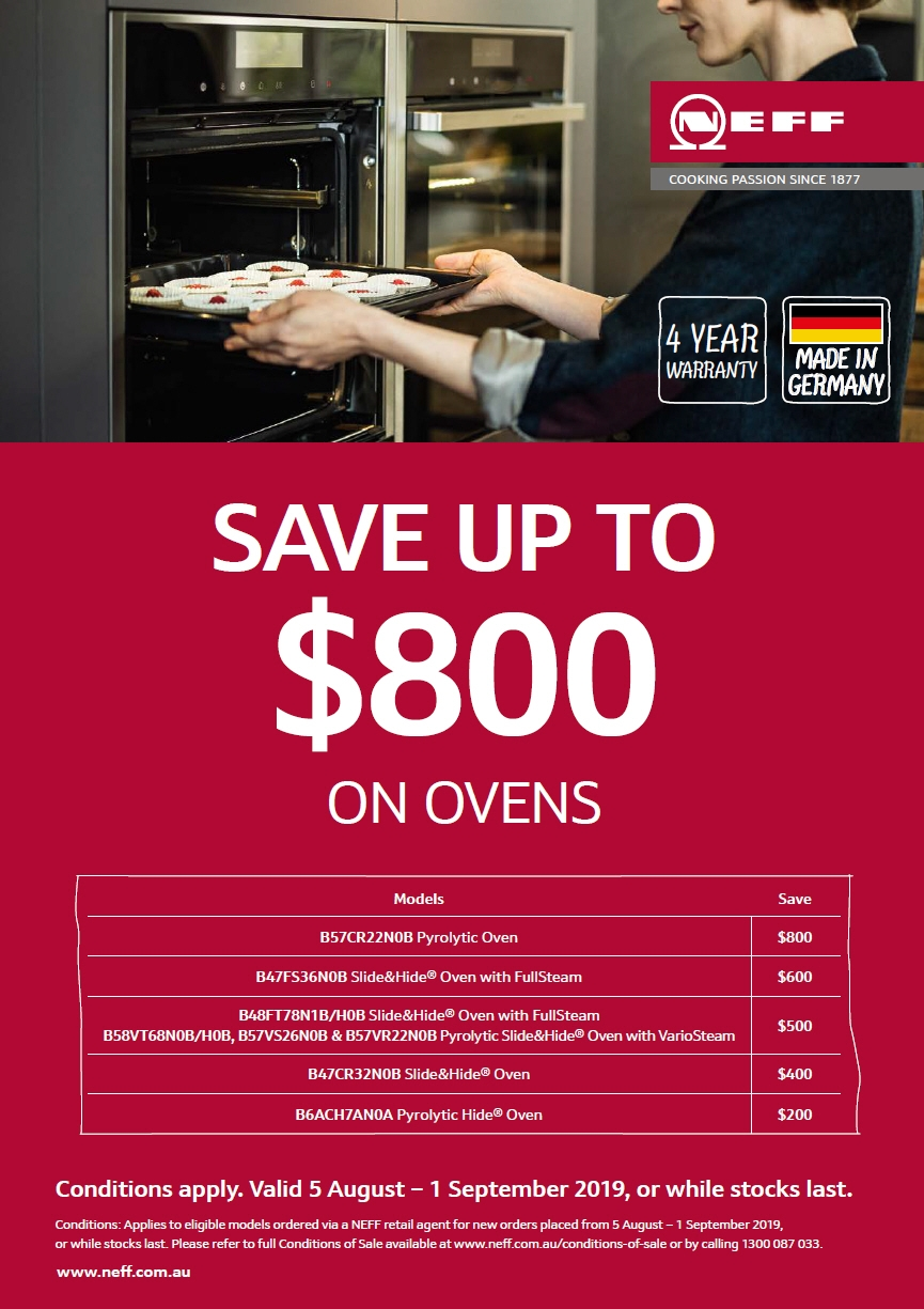NEFF August 2019 Oven Model Promotion