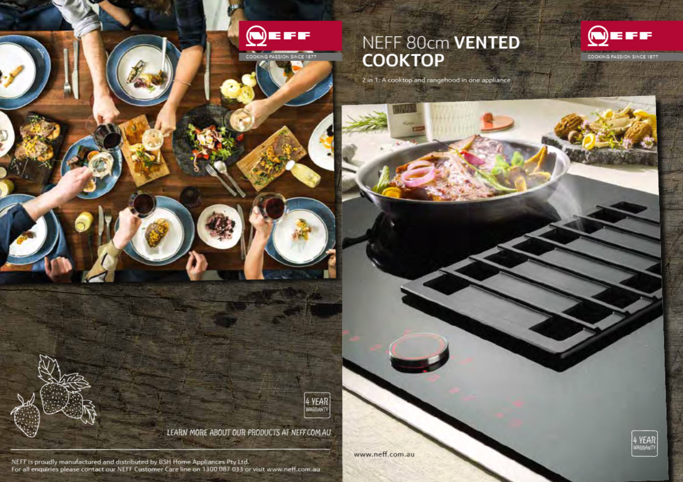 NEFF T58TS6BN0 80cm Vented FlexInduction Cooktop Overview Brochure 1