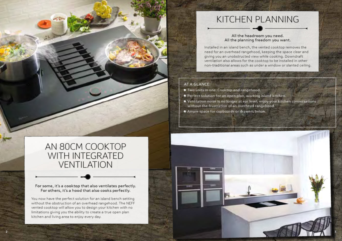 NEFF T58TS6BN0 80cm Vented FlexInduction Cooktop Overview Brochure 2