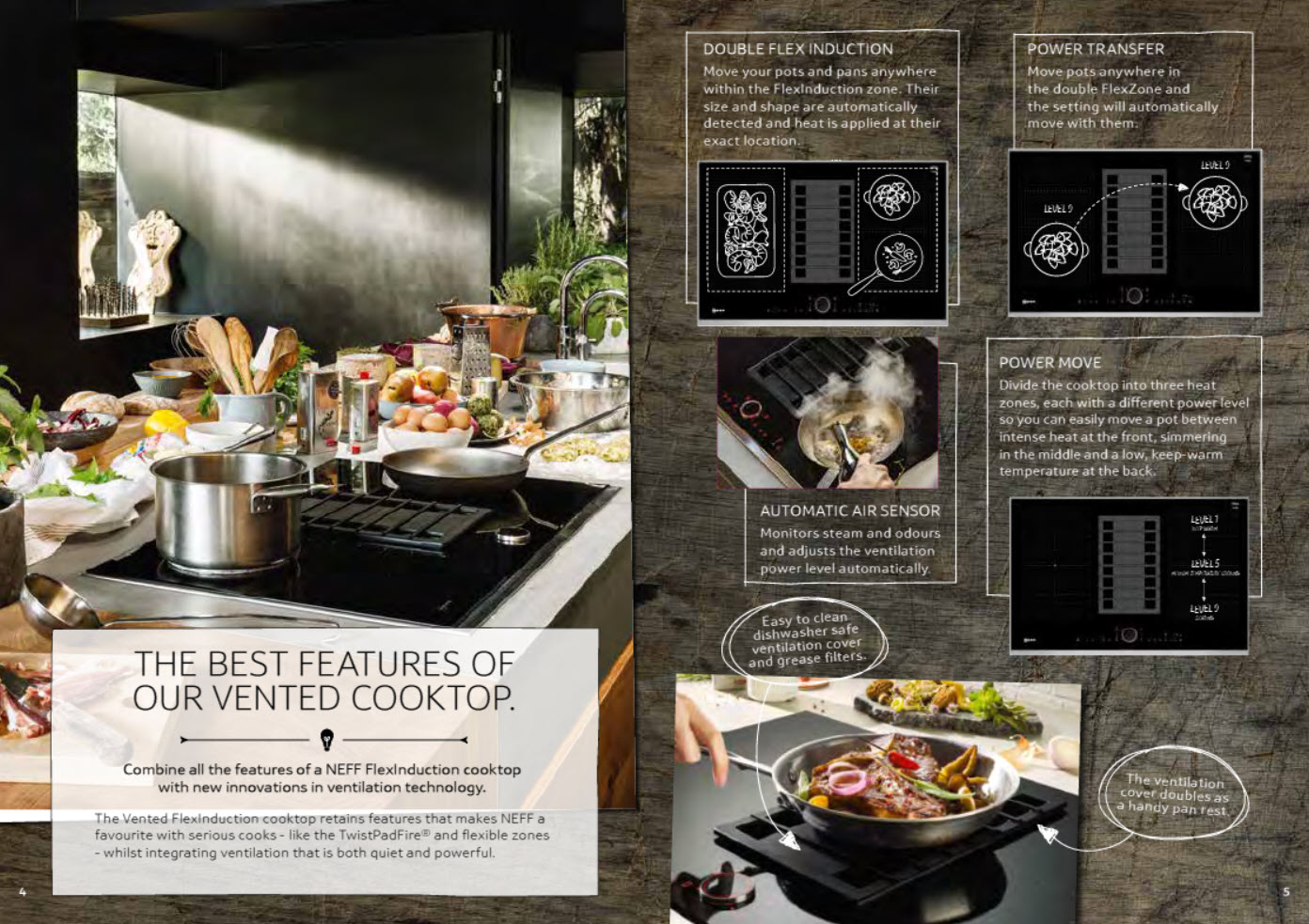 NEFF T58TS6BN0 80cm Vented FlexInduction Cooktop Overview Brochure 3