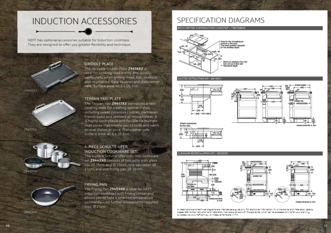 NEFF T58TS6BN0 80cm Vented FlexInduction Cooktop Overview Brochure 6