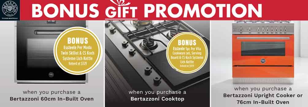 Camberwell Electrics Bertazzoni Bonus Gift Promotion Aug 2017