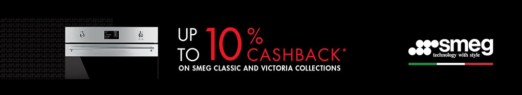 Receive up to 10% cashback on Smeg Classic and Victoria Collections