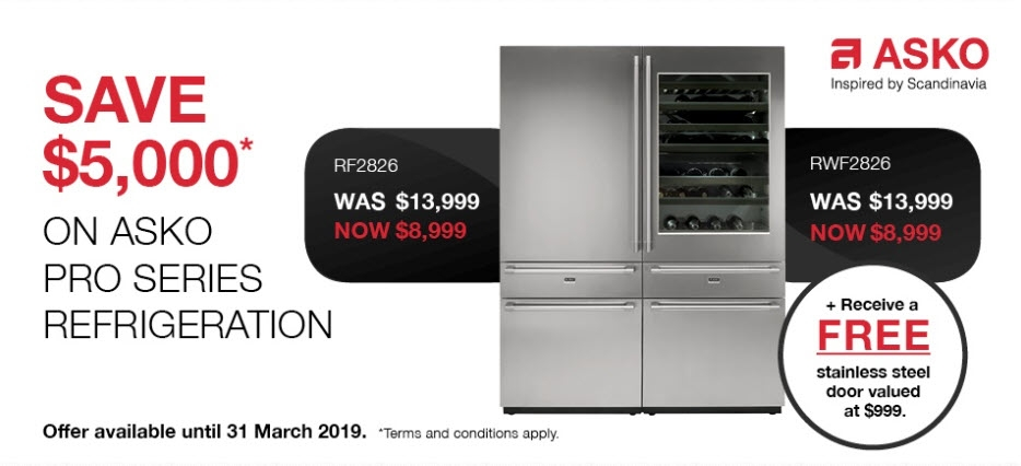 Save $5000 on selected ASKO Refrigeration