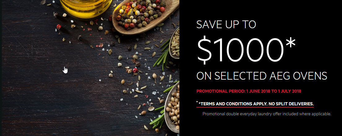 Save up to $1,000 on Selected AEG Ovens