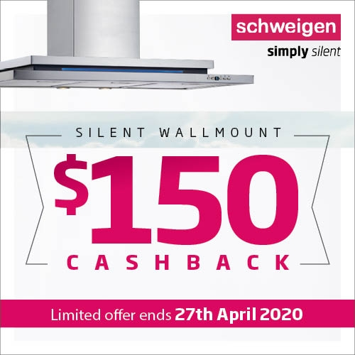 Schweigen 150 Wallmount Rangehood Cashback