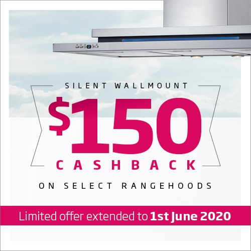 Schweigen 150 Wallmount Rangehood Cashback Extended