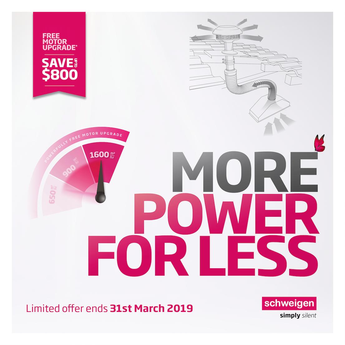 Schweigen Rangehood Feb March 2019 Promo Upgrade Your Motor