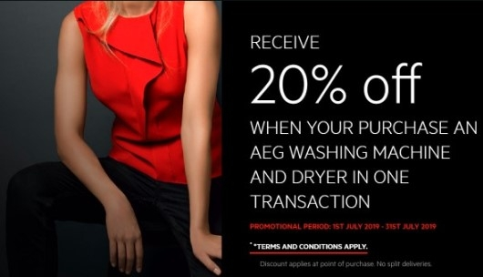 20% Off ON AEG Washing Machines, Dryers