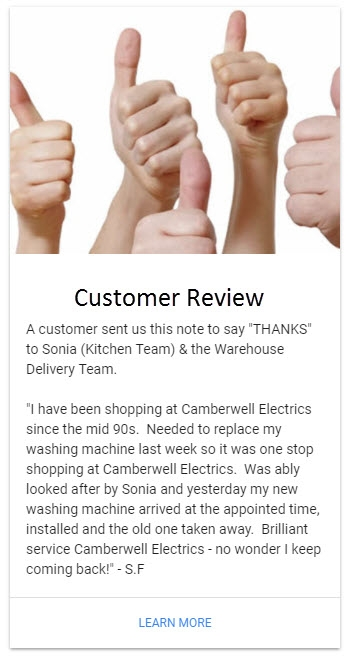 Camberwell Electrics Thumbs Up Review by S.F