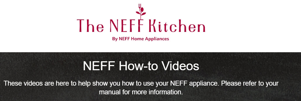 The NEFF Kitchen Video How To's