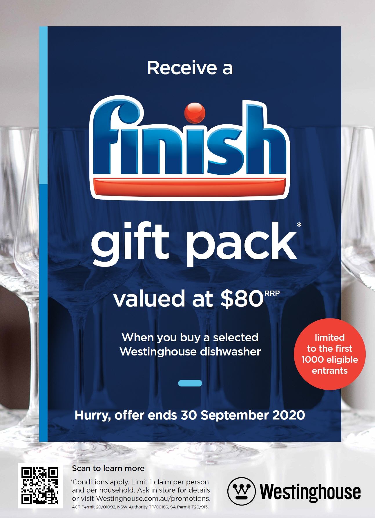 Westinghouse Finish Gift Pack Sept 2020