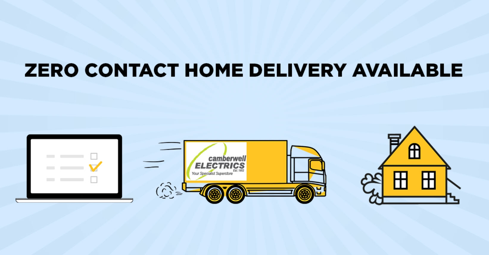 ZERO Contact Home Delivery Available