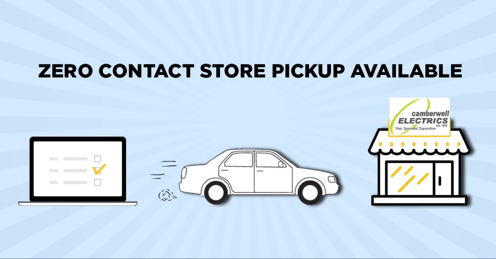ZERO Contact Store Pickup Available